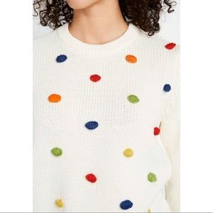 Modcloth Sweaters - ModCloth Blowing Bobbles Pom Pom Sweater Sz Large